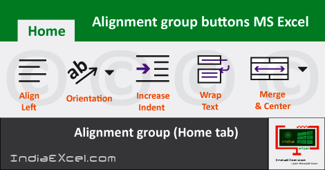 alignment group excel   alignment group commands   alignment in excel 2013   what is alignment in excel   wrap text in excel   alignment group excel 2010