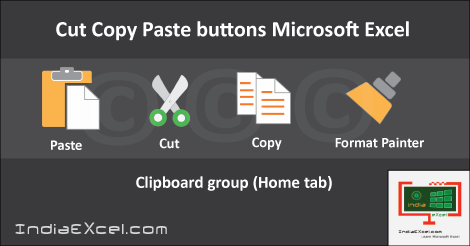 Cut and paste commands