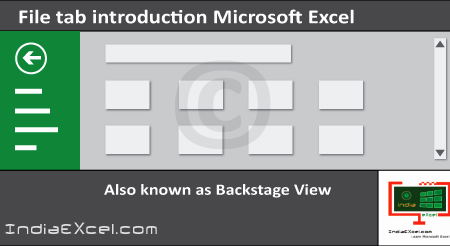 File tab Backstage View buttons introduction Microsoft Excel 2016