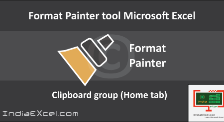 Using Format Painter tool button Microsoft Excel 2016