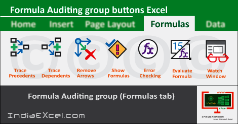 Formula Auditing group buttons MS Excel