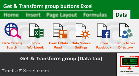 Get Transform group buttons of Data tab Microsoft Excel