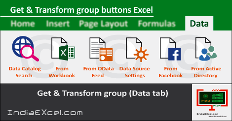 Get Transform group buttons Data tab MS Excel