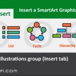 Insert SmartArt Graphic button categories overview Excel