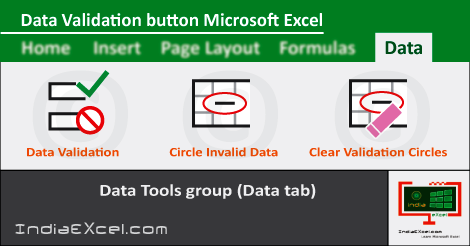 Data Validation button Data tab ribbon Microsoft Excel