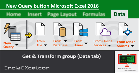 New Query button Data tab ribbon Microsoft Excel