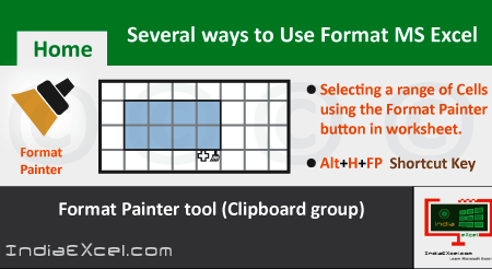 Several ways to use Format Painter Microsoft Excel 2016