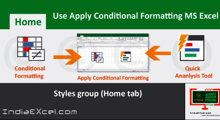 Use Apply Conditional Formatting in worksheet MS Excel