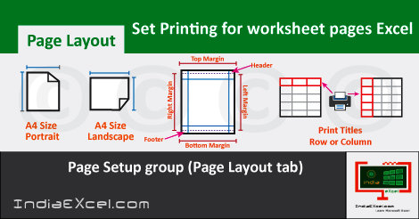 Set Printing spreadsheet Page document MS Excel 2016