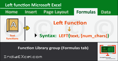 Left function in excel | Left function in excel for numbers | Left function in excel example | Left function in excel until space