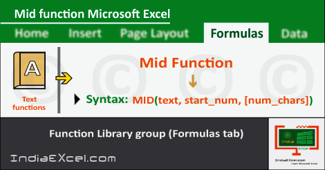 Mid function in excel | Mid function in excel 2016 | Mid function in excel with example | Mid function in excel 2013